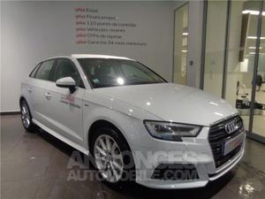 Audi A3 Sportback 2.0 TDI 150Design S tronic 6 blanc glacier