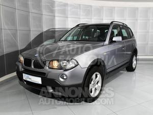 BMW X3 2.0D 163CV LUXE gris argent gris