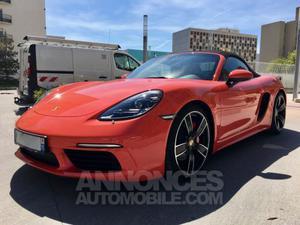 Porsche Boxster 718 S 350cv orange fusion métal