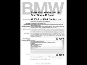 BMW SÉRIE 4 GRAN COUPÉ 420D XDRIVE 184 M SPORT