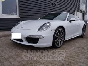 Porsche  Targa 4 pdk blanc carrare métal