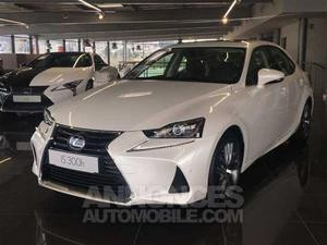 Lexus IS 300H BERLINE HYBRIDE MC LUXE TOIT OUVRANT 085 blanc